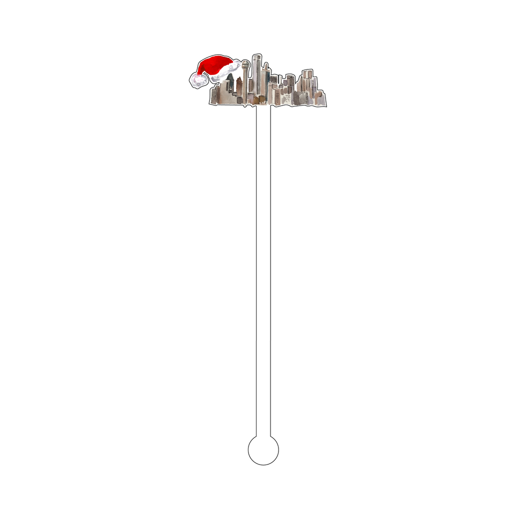 DALLAS CHRISTMAS ACRYLIC STIR STICK