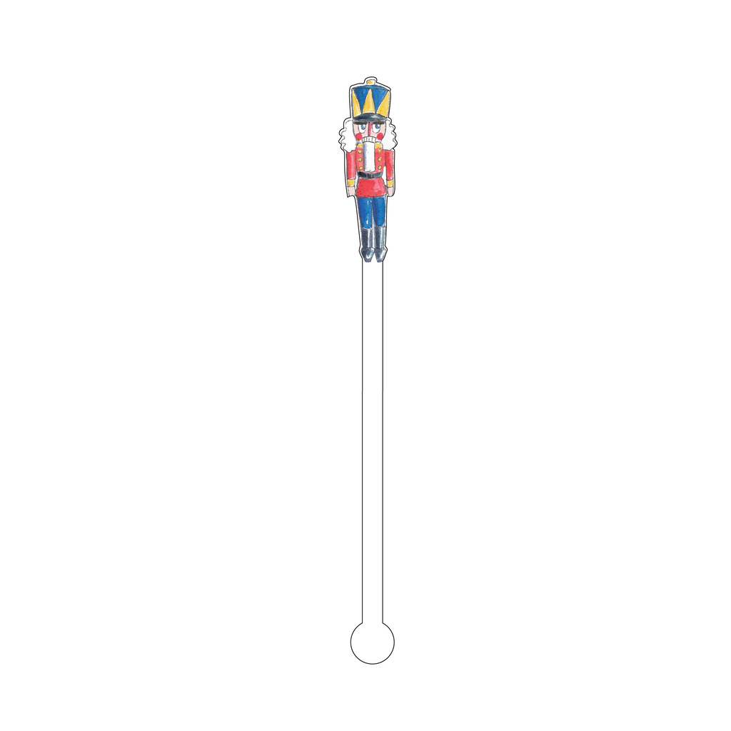 GIDDY MR. NUTCRACKER ACRYLIC STIR STICK