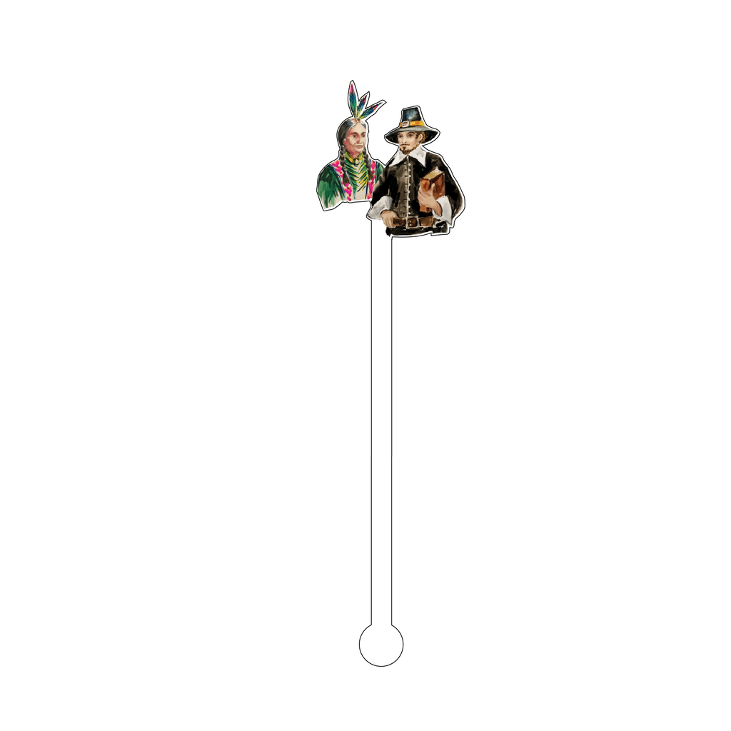 INDIAN & PILGRIM ACRYLIC STIR STICK