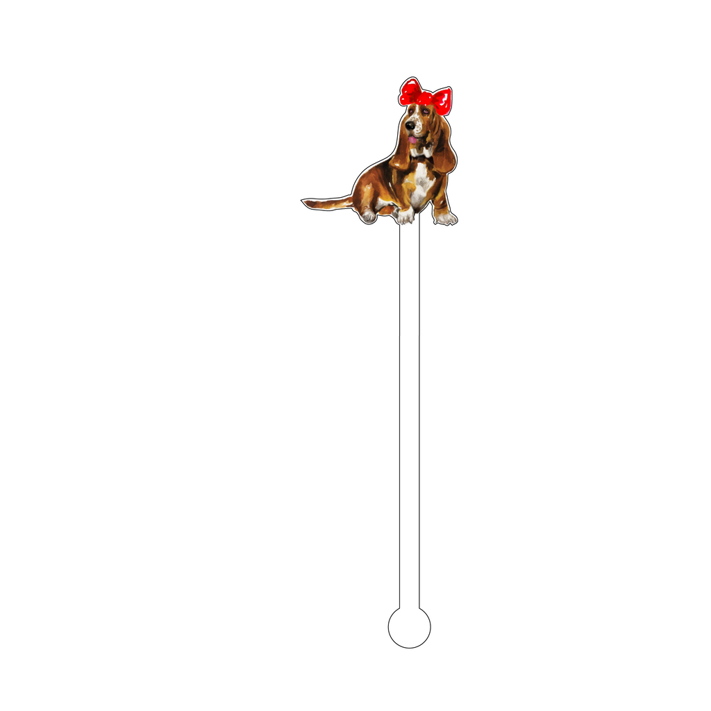 HOLIDAY HOUND DOG ACRYLIC STIR STICK