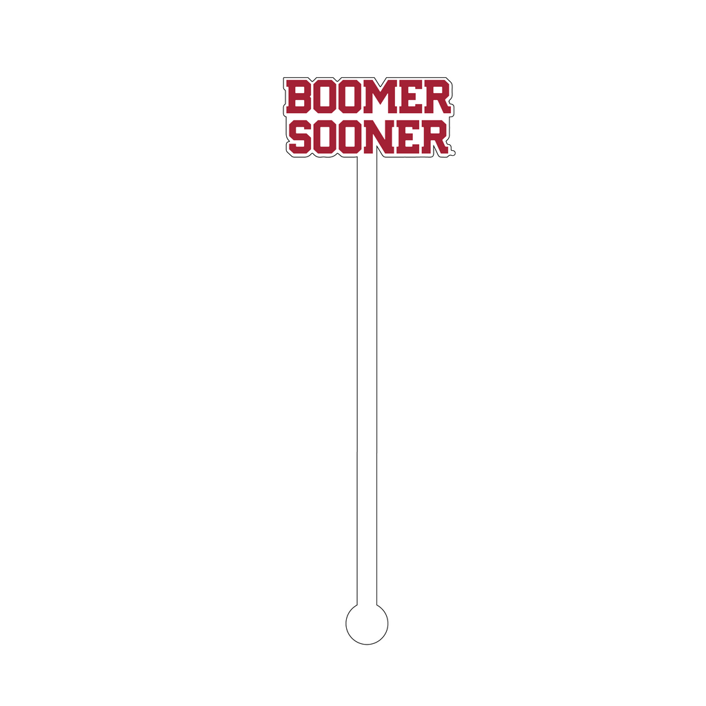 BOOMER SOONER TEXT ACRYLIC STIR STICK