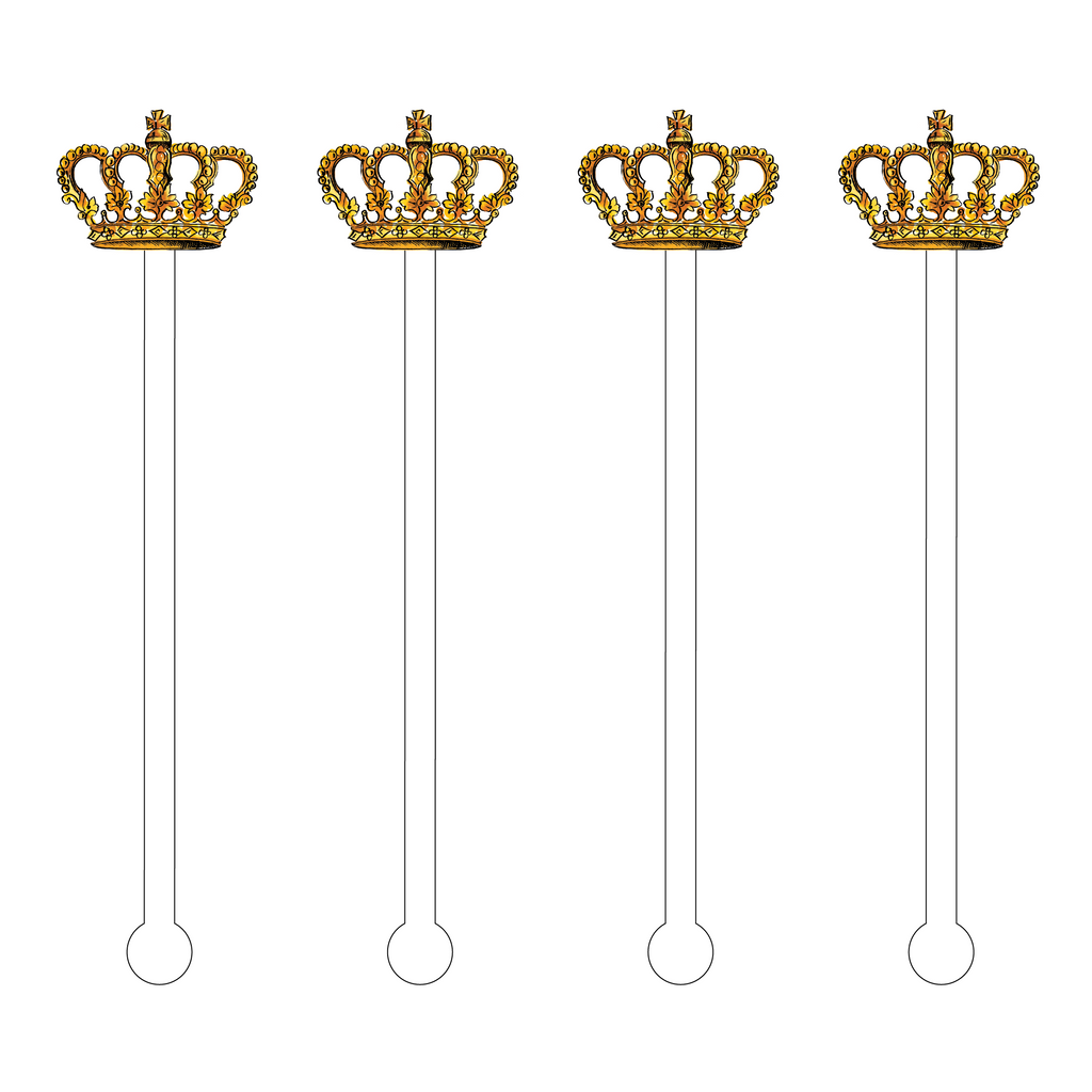 GOLD CROWN ACRYLIC STIR STICKS