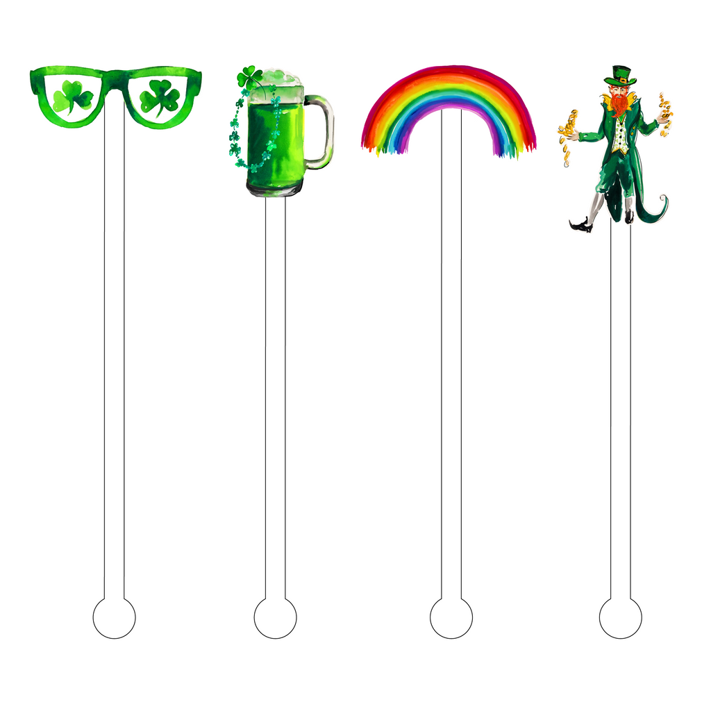 ST. PATRICK'S DAY ACRYLIC STIR STICKS COMBO