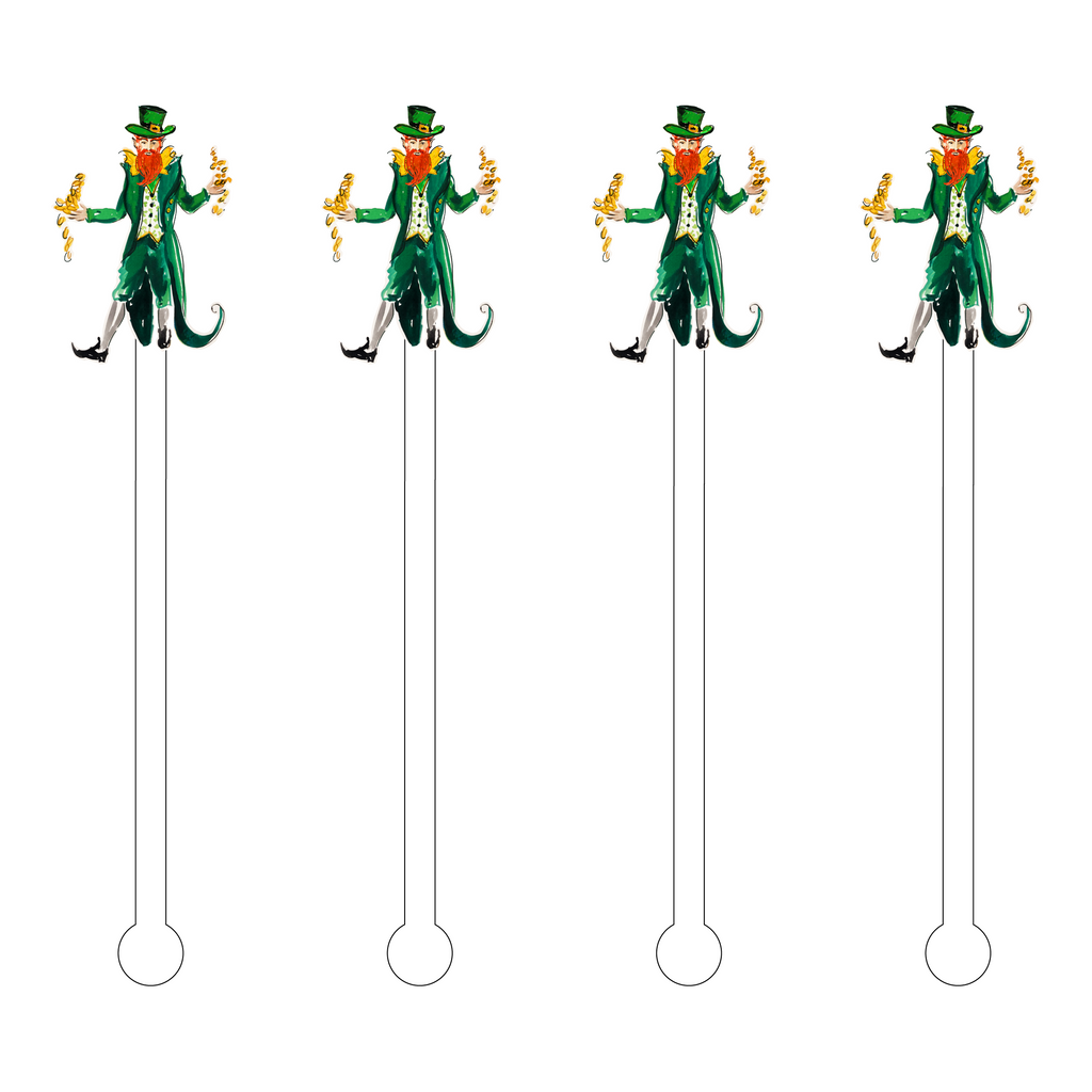 LEPRECHAUN ACRYLIC STIR STICKS