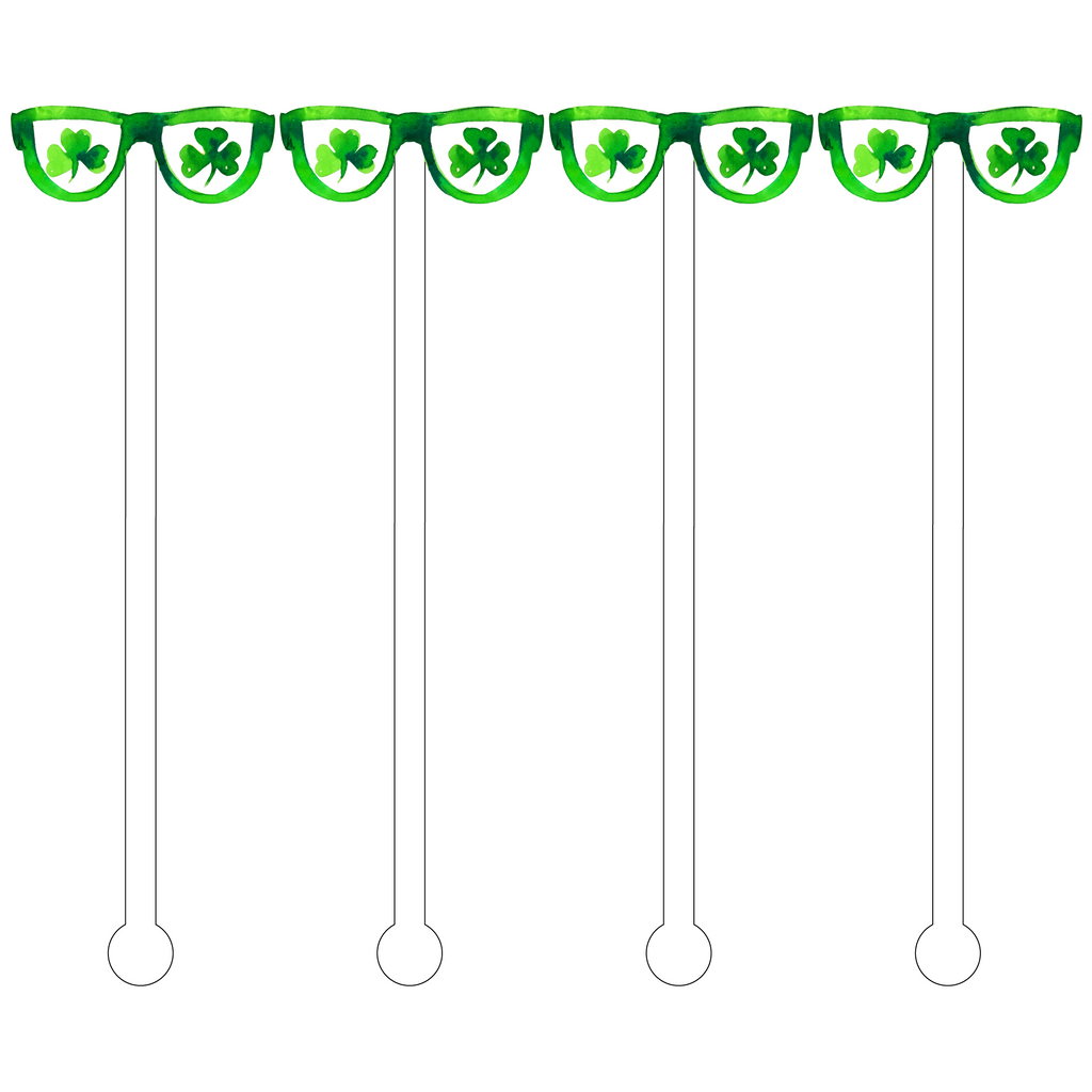 ST. PATTY'S SUNNIES ACRYLIC STIR STICKS