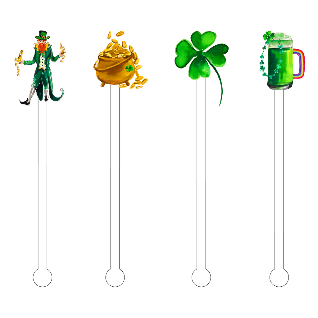 ST. PATTY'S DAY ACRYLIC STIR STICKS COMBO