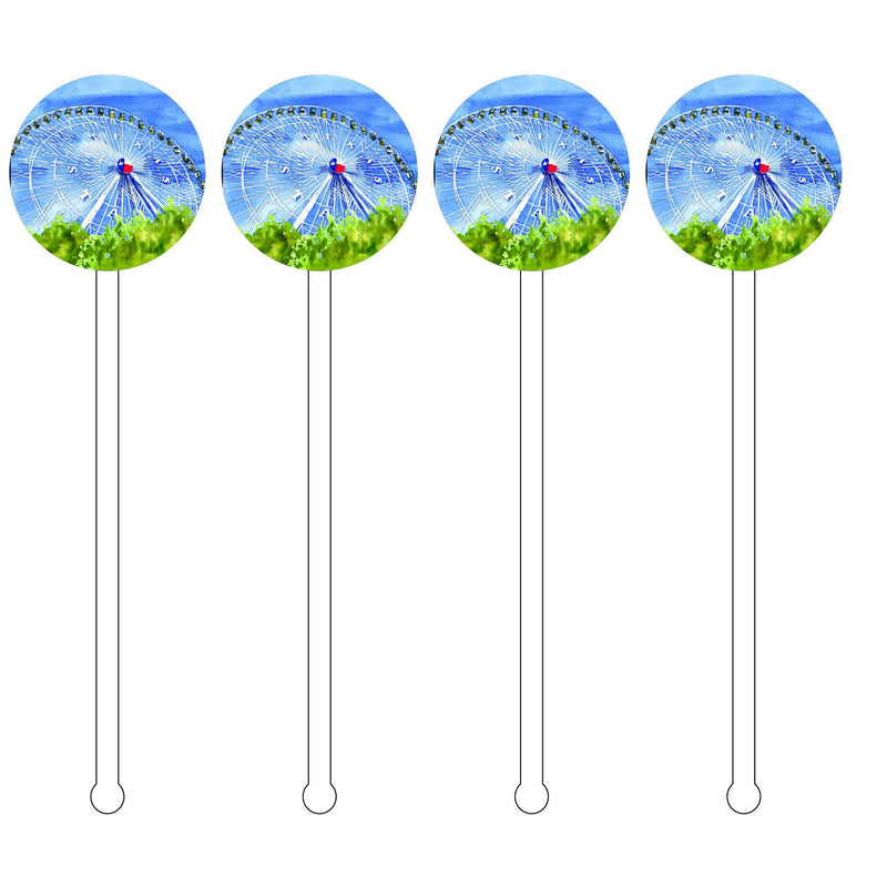 STATE FAIR OF TEXAS FERRIS WHEEL ACRYLIC STIR STICKS