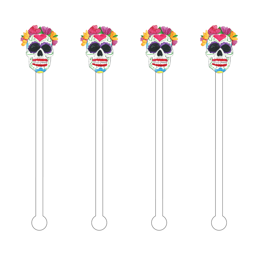 MRS. SUGAR SKULL ACRYLIC STIR STICKS