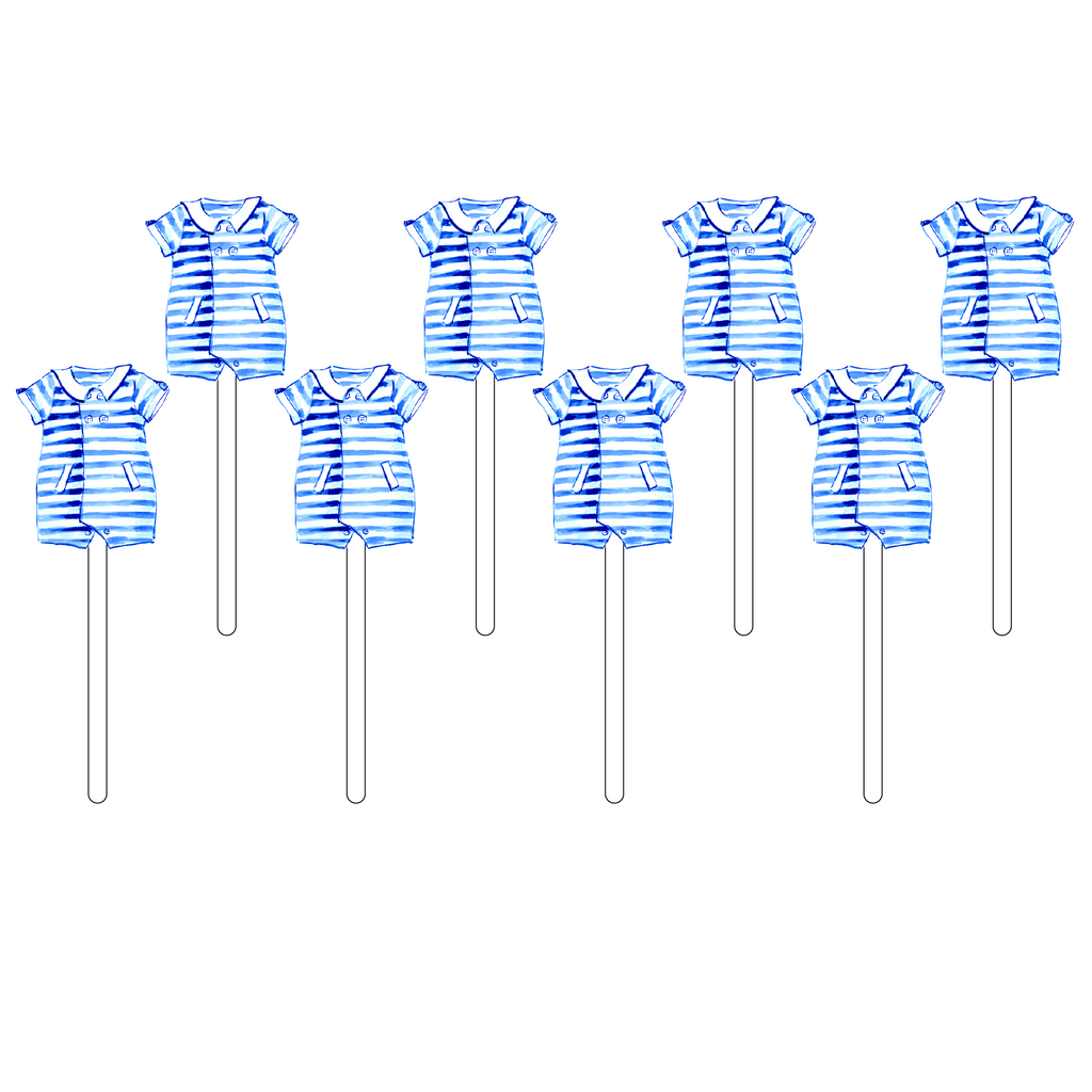 BLUE STRIPE ONESIE ACRYLIC SWEETIES
