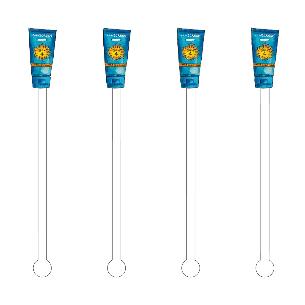 SUNSCREEN ACRYLIC STIR STICKS