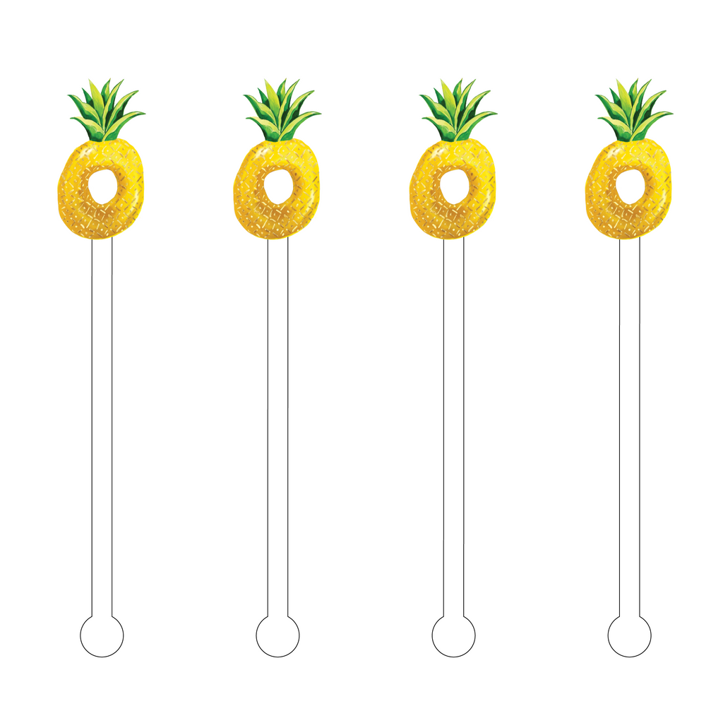 PINEAPPLE FLOATY ACRYLIC STIR STICKS