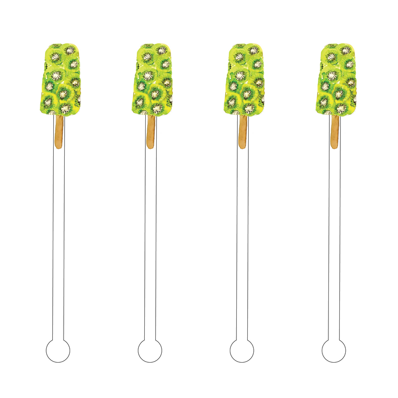 KIWI POPSICLE ACRYLIC STIR STICKS