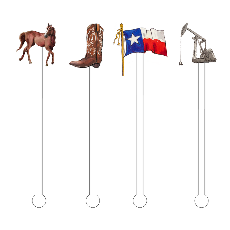 TEXAS COMBO ACRYLIC STIR STICKS