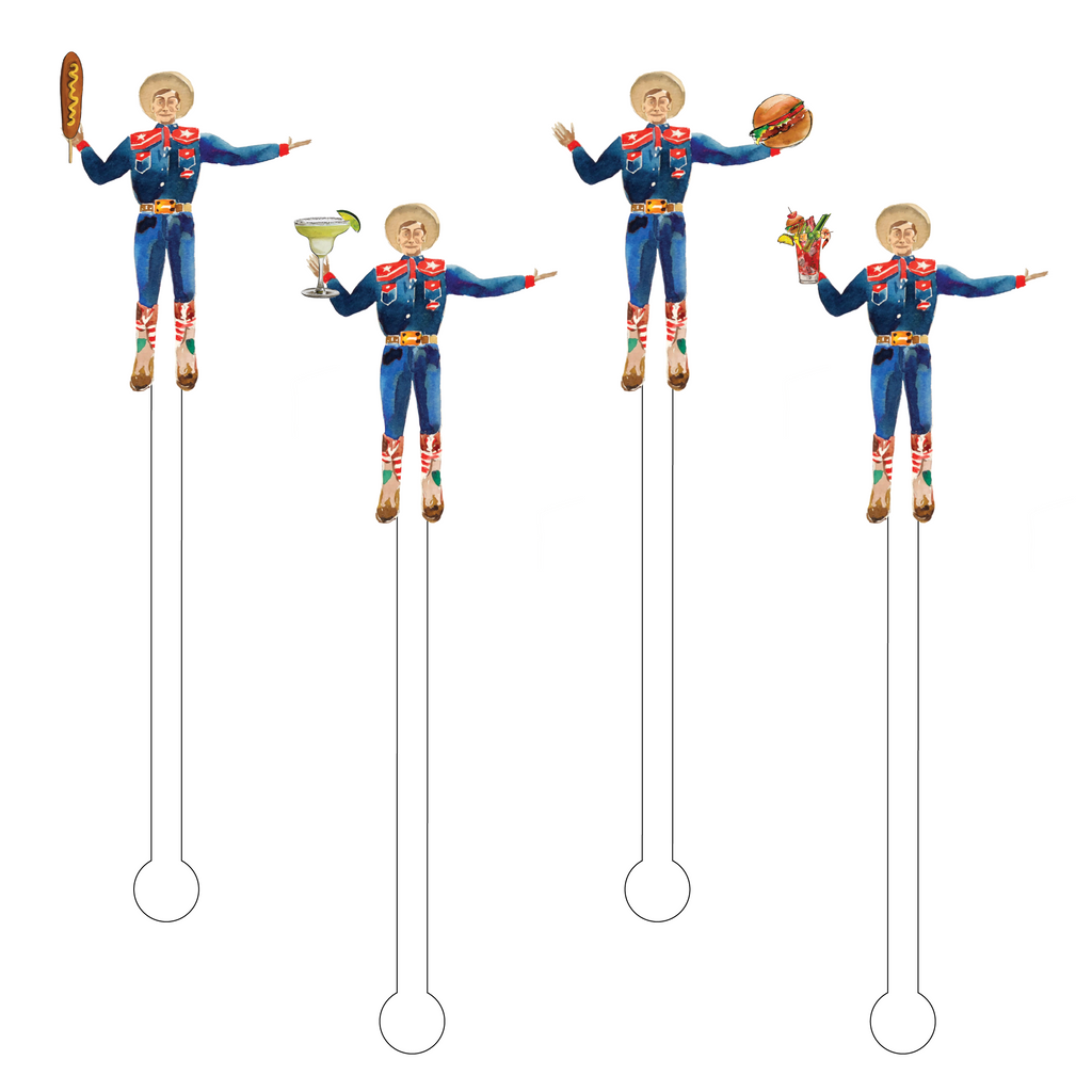 BIG TEX LIKES TO INDLUGE ACRYLIC STIR STICKS COMBO