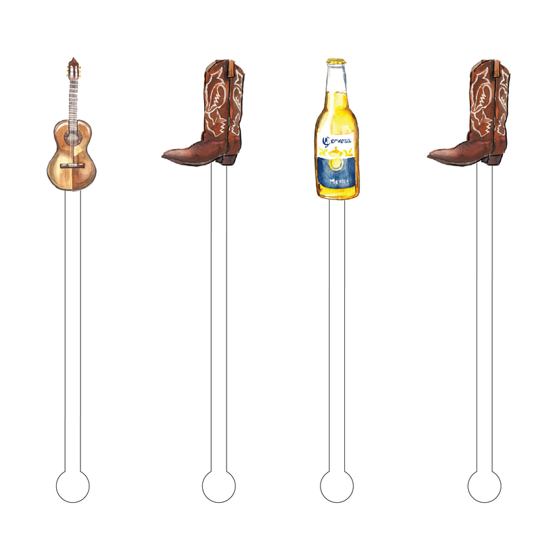 BOOT SCOOTIN BOOGIE ACRYLIC STIR STICKS COMBO
