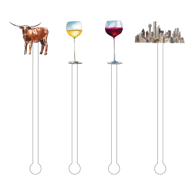 DATE NIGHT IN DALLAS ACRYLIC STIR STICKS COMBO
