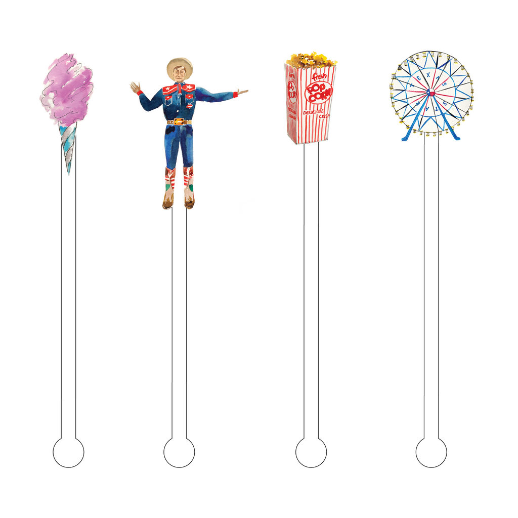 FUN TIME AT THE FAIR ACRYLIC STIR STICKS COMBO