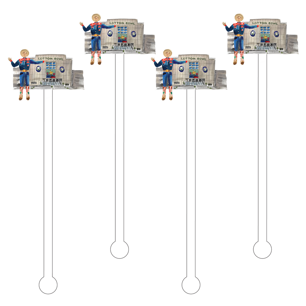 BIG TEX @ THE COTTON BOWL ACRYLIC STIR STICKS
