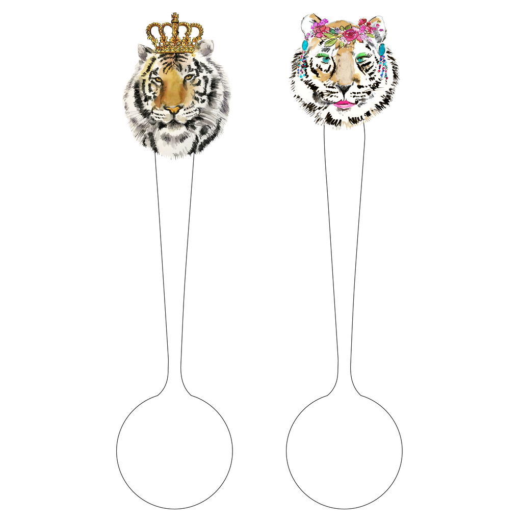 BATTLE OF THE TIGERS 'CANOODLES' ACRYLIC STIR SPOONS*