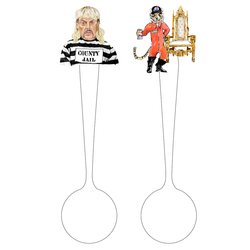 COUNTY JAIL JOE 'CANOODLES' ACRYLIC STIR SPOONS*