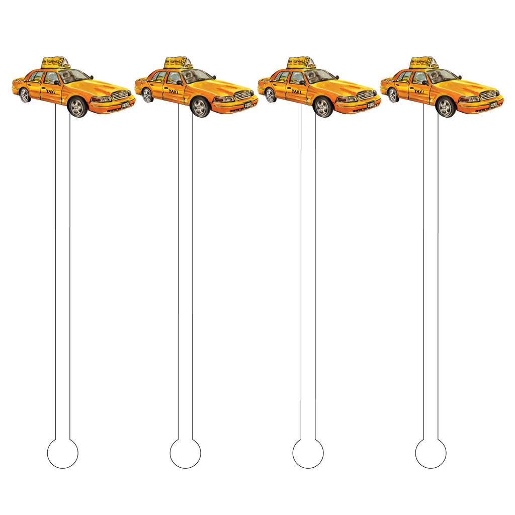 TAXI CAB ACRYLIC STIR STICKS
