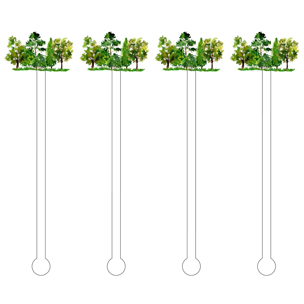 OAK TREES ACRYLIC STIR STICKS