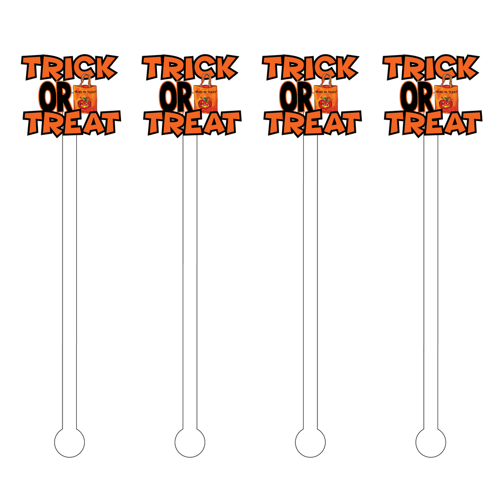 TRICK OR TREAT ACRYLIC STIR STICKS