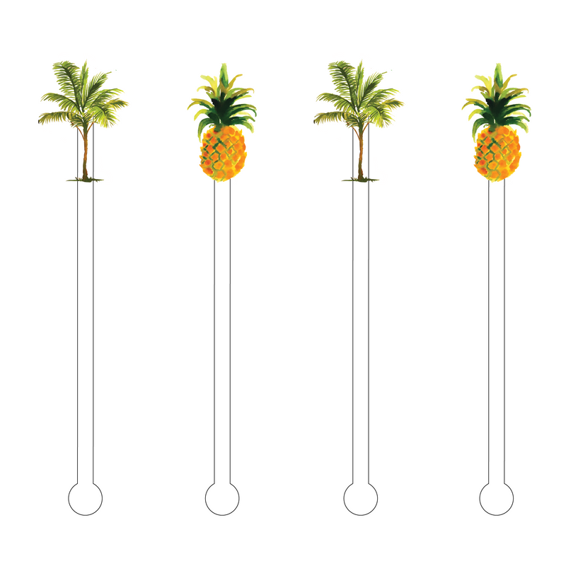 FEELING TROPICAL COMBO ACRYLIC STIR STICKS