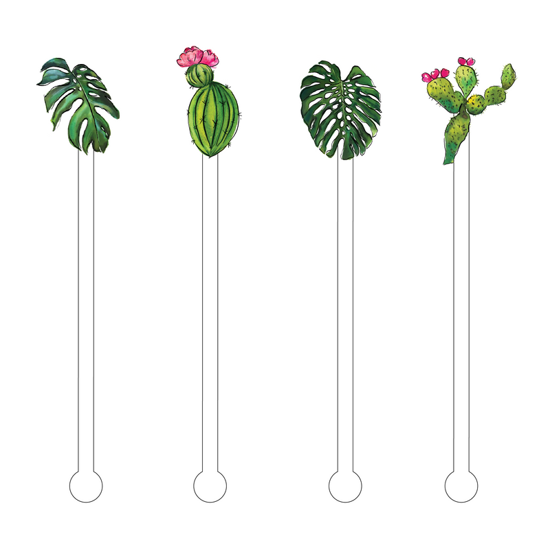 CACTI ACRYLIC STIR STICKS COMBO