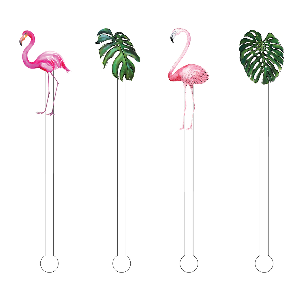 FLAMINGO TROPICS ACRYLIC STIR STICKS COMBO
