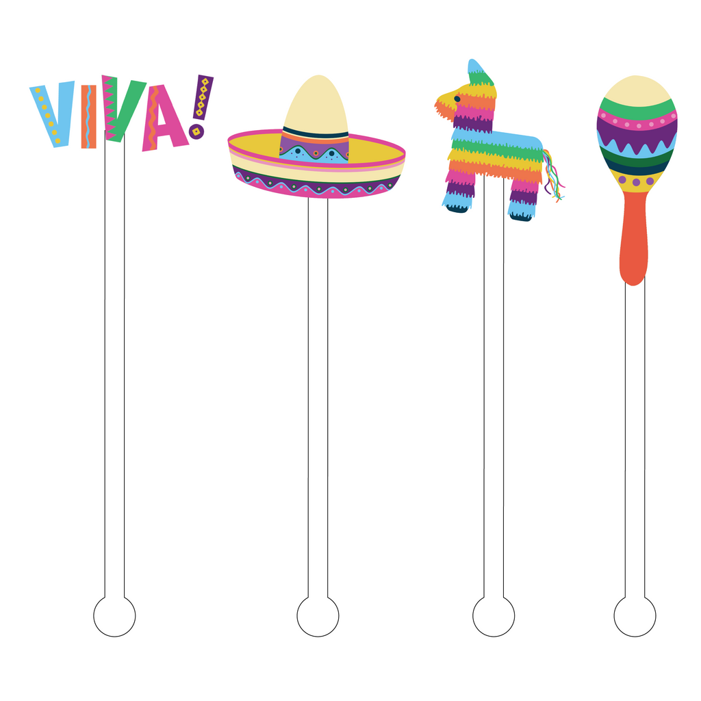 VIVA! ACRYLIC STIR STICKS COMBO