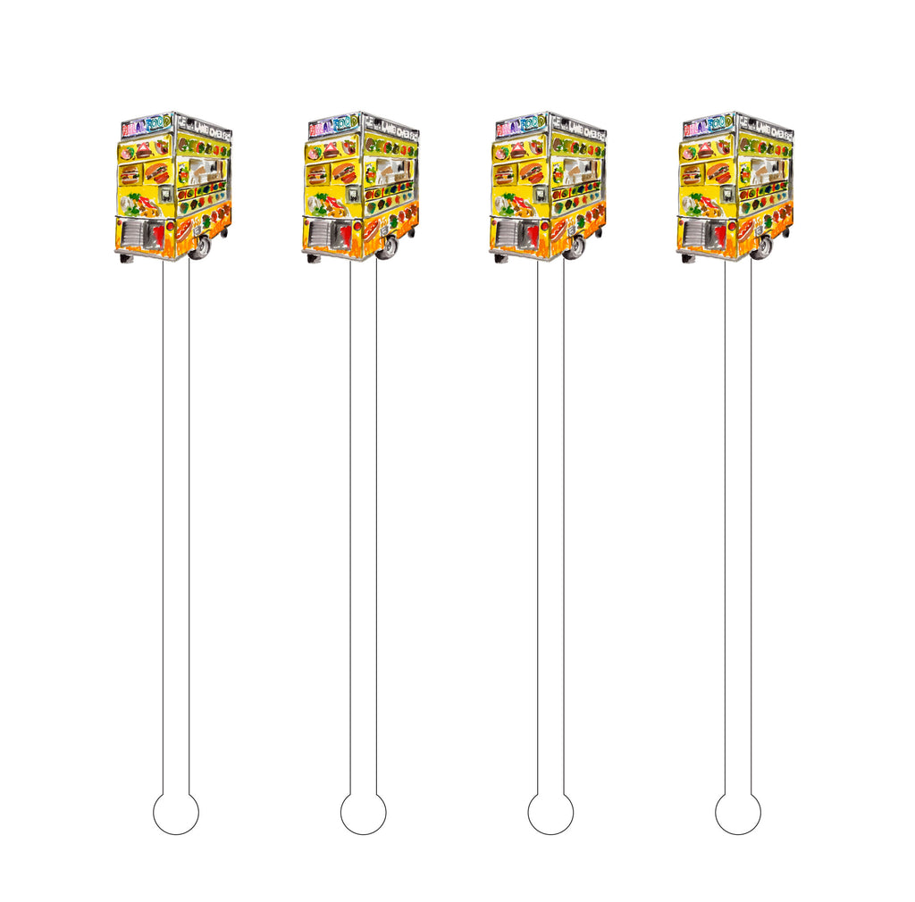 NYC FOOD TRUCK ACRYLIC STIR STICKS