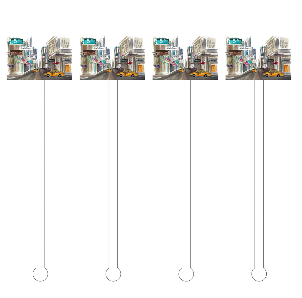 5TH AVENUE ACRYLIC STIR STICKS