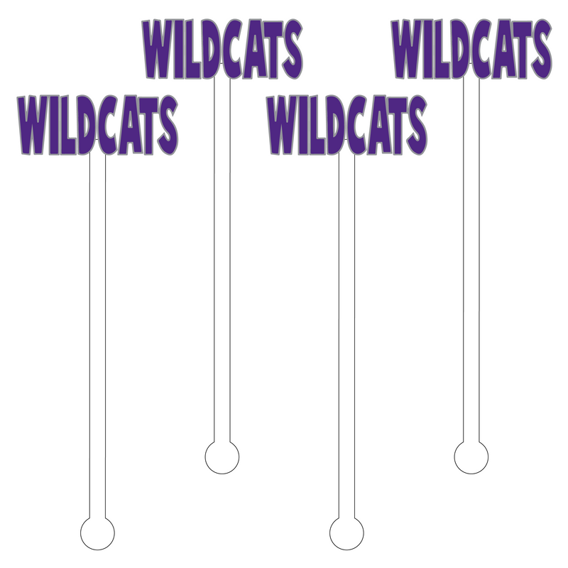 WILDCATS ACRYLIC STIR STICKS