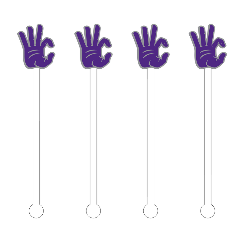 GO CATS! HAND SIGN ACRYLIC STIR STICKS