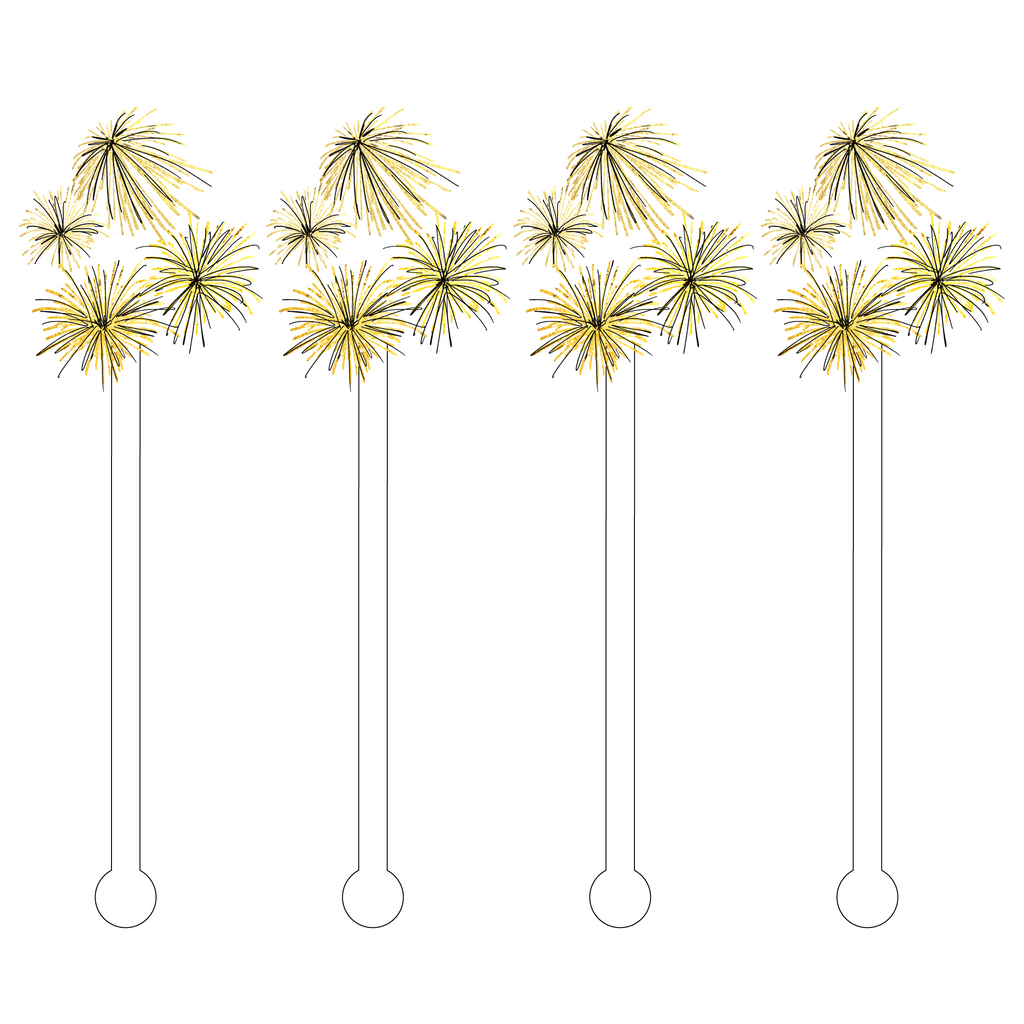 GOLD FIREWORKS ACRYLIC STIR STICKS