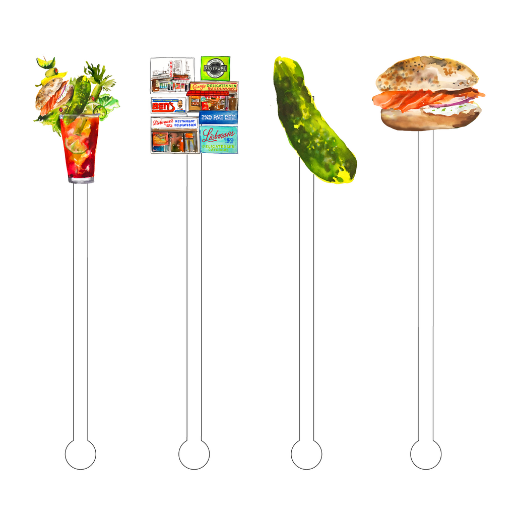 NEW YORK DELI INDULGENCE ACRYLIC STIR STICKS