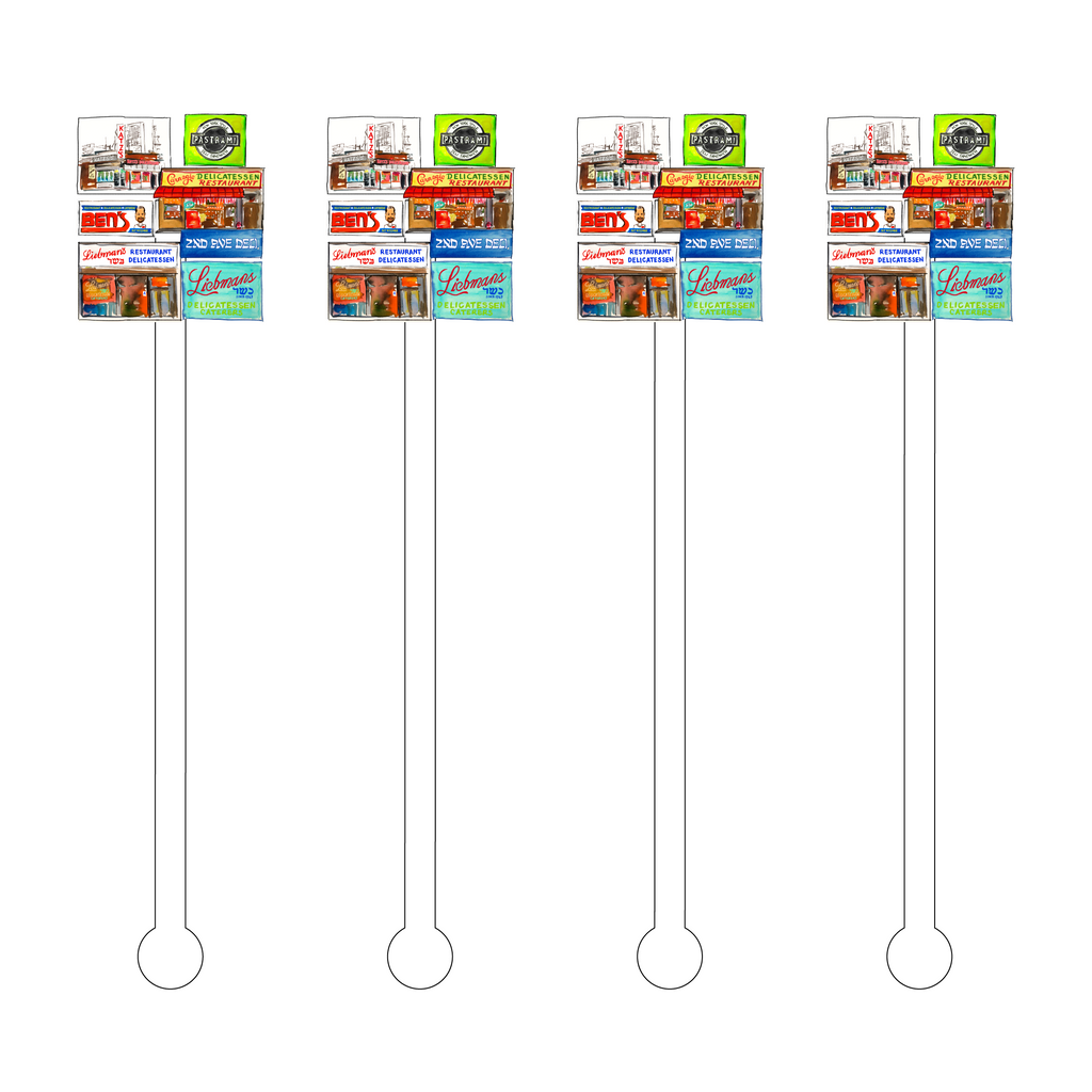 NEW YORK KOSHER DELI'S ACRYLIC STIR STICKS