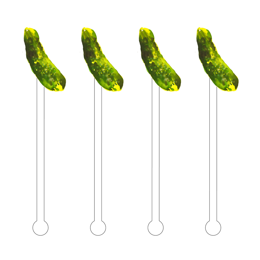 DILL PICKLE ACRYLIC STIR STICKS