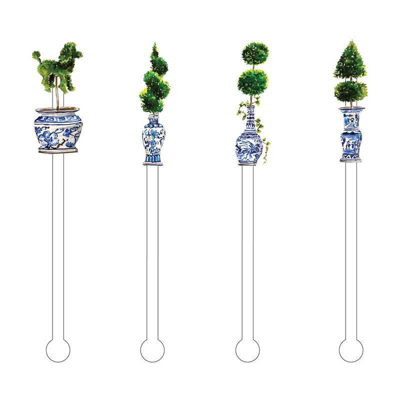 LET'S TALK TOPIARIES ACRYLIC STIR STICKS COMBO