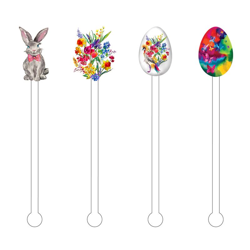 SPRING INTO EASTER ACRYLIC STIR STICKS COMBO