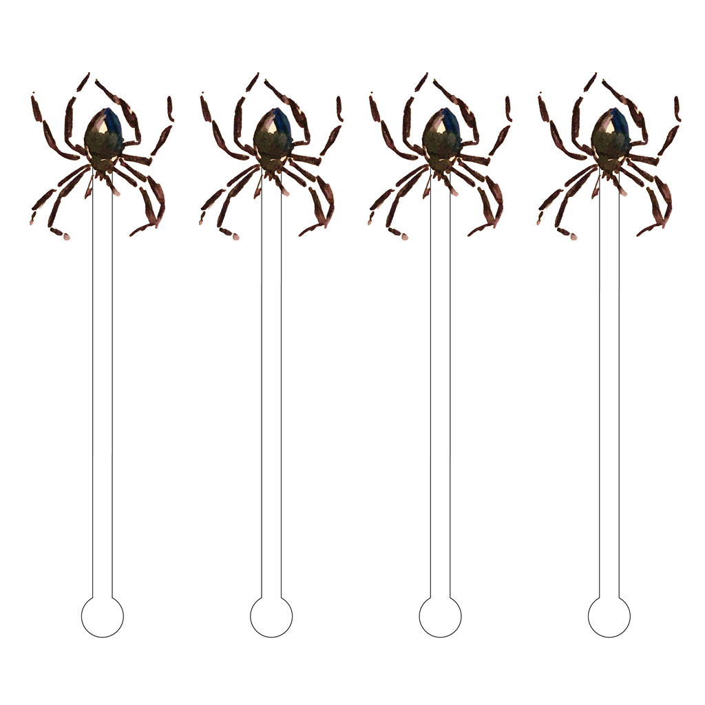 BLACK WIDOW SPIDER ACRYLIC STIR STICKS