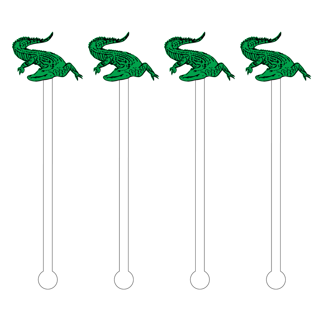 ALLIGATOR ACRYLIC STIR STICKS