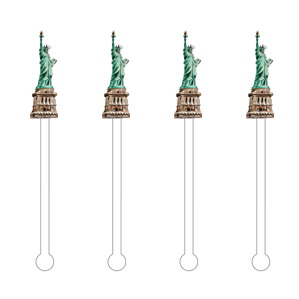 STATUE OF LIBERTY ACRYLIC STIR STICKS