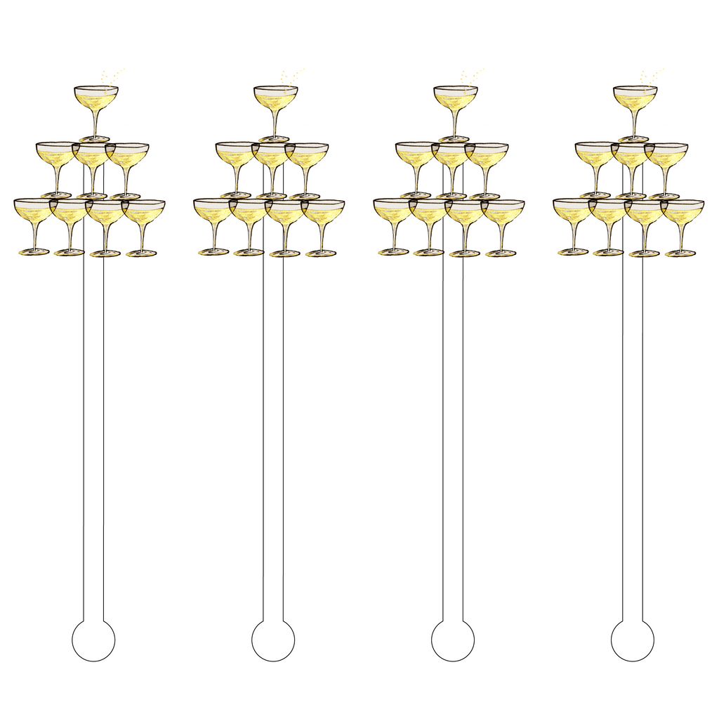CHAMPAGNE TOWER ACRYLIC STIR STICKS