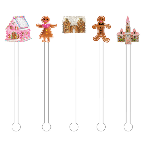 NUTCRACKER CHRISTMAS ACRYLIC STIR STICKS COMB*