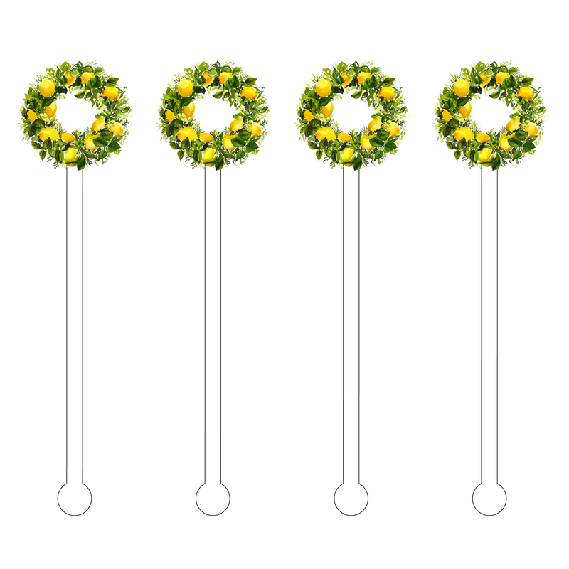 LEMON WREATH ACRYLIC STIR STICKS