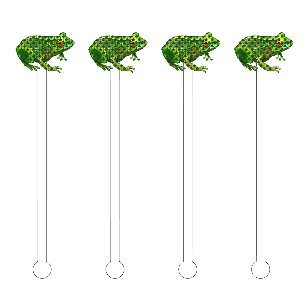 HEREND FROG ACRYLIC STIR STICKS