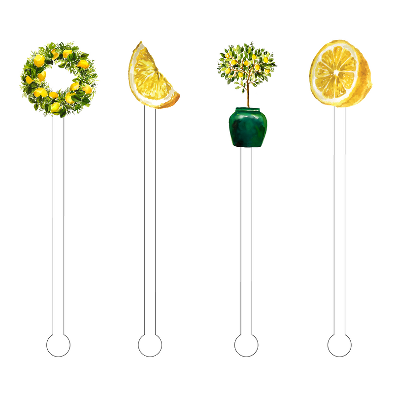LOVER OF LEMONS ACRYLIC STIR STICKS COMBO*
