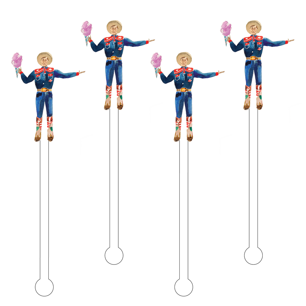 BIG TEX HEARTS COTTON CANDY ACRYLIC STIR STICKS
